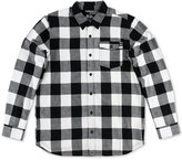 Metal Mulisha Men's Explicit Buffalo-Plaid Flannel Shirt