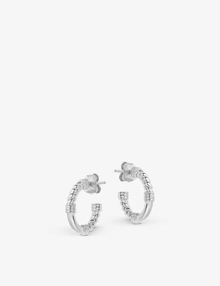 Missoma Mini Cord sterling silver hoop earrings