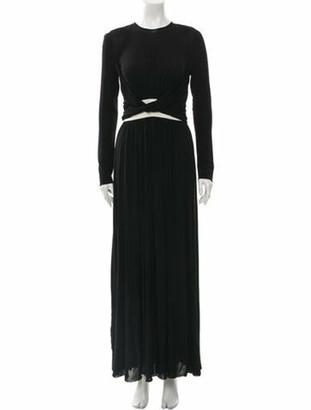 Giambattista Valli Crew Neck Long Dress Black