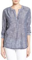 Women's Caslon Fringe Hem Cotton Tunic
