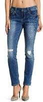 Seven7 Studded Slim Straight Leg Jeans