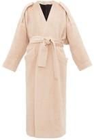 Petar Petrov Moscow Belted Alpaca-blend Coat - Womens - Light Pink