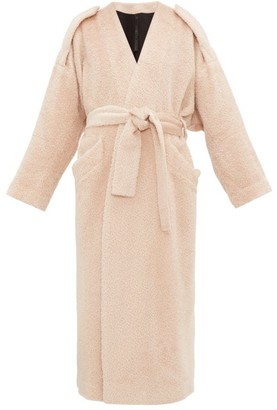 Petar Petrov Moscow Belted Alpaca-blend Coat - Light Pink