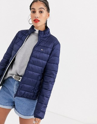Tommy Jeans Essential padded lightweight jacket-Navy