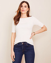 Ann Taylor The Petite Boatneck Perfect Pullover
