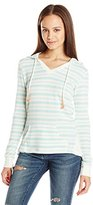 Miss Chievous Junior's Deep V Stripe French Terry Hoodie