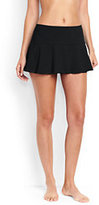 Classic Women's Petite Flounce Mini SwimMini Skirt Control-Plum Wine