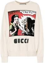 Gucci Printed cotton jersey sweatshirt