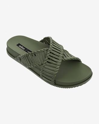 Express Melissa Cosmic + Salinas Braided Slide Sandals