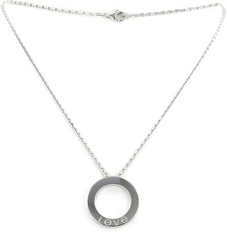 Cartier 18kt white gold Love necklace