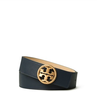 "Tory Burch 1 1/2"" Twisted Logo Belt"