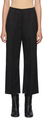 MM6 MAISON MARGIELA Black Straight-Leg Trousers