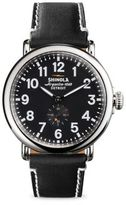 Shinola Runwell Stainless Steel & Leather Strap Watch/Black