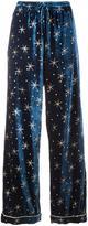 Valentino star embroidered velvet pyjama pants