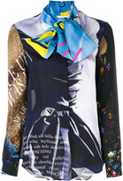 Moschino pussy bow printed blouse