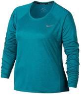 Nike Plus Size Miler Dri-FIT Long Sleeve Top