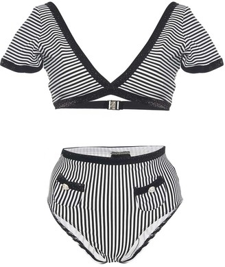 Leslie Amon Mary Lou Striped Bikini
