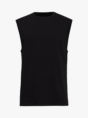 AllSaints Vision Sleeveless Crew Neck T-Shirt, Black