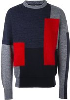 Oamc colour block jumper - men - Polyamide/Mohair/Virgin Wool - L