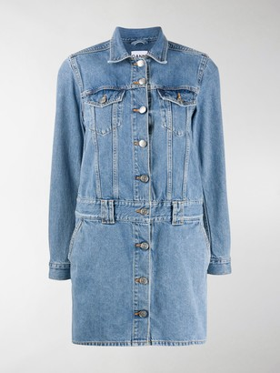 Ganni Short Denim Dress