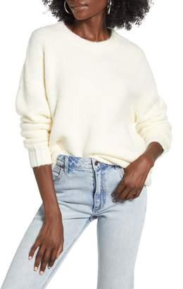 Cotton Emporium Easy Rib Trim Sweater