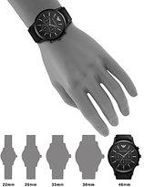 Emporio Armani Leather Chronograph Watch