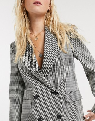 Topshop check blazer co-ord in monochrome
