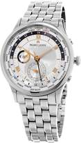 Maurice Lacroix Masterpiece Worldtimer Men's Dial Stainless Steel Automatic Swiss Watch MP6008-SS002-110-1