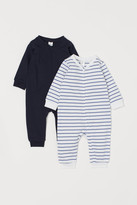 H&M 2-pack Jumpsuits with Zip - Blue