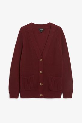 Monki Long knitted cardigan