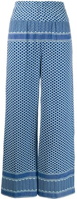 Cecilie Copenhagen Multi-Patterned High-Waisted Trousers