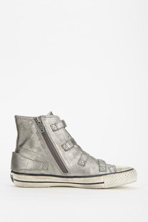 Ash Virgin Buckled Leather High-Top Sneaker