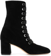 Thumbnail for your product : Le Monde Beryl Velvet Lace-Up Ankle Boots