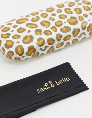Sass & Belle glasses case in leopard print