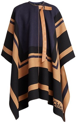 Chloé Virgin Wool Blanket Cape