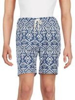 Threads 4 Thought Boardwalk Printed Organic Cotton-Blend Shorts