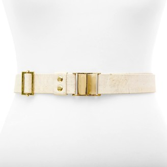 Sincerely Yours White Cork Leather Belt