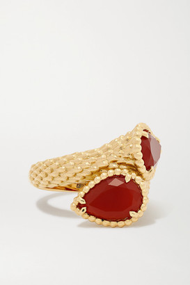 Boucheron Serpent Boheme 18-karat Gold Carnelian Ring