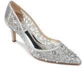 Badgley Mischka Eileen Point Toe Embellished Low Heel Pump