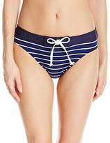 Nautica Women's Classic Stripe Retro Pant Swimsuit,(Manufacturer Size:12)