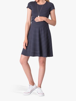 Séraphine Seraphine Fit and Flare Stripe Jersey Dress
