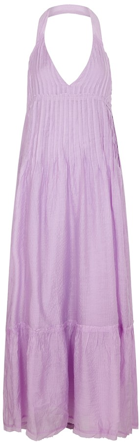 Free People Frankie Lilac Gauze Maxi Dress