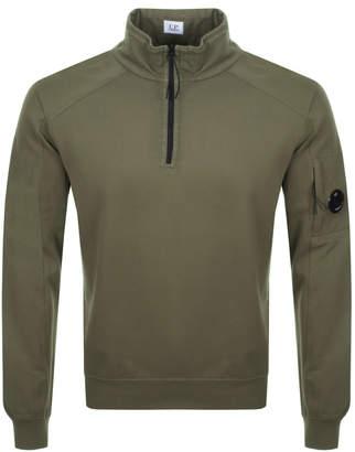 C.P. Company C P Company Goggle Half Zip Sweatshirt Khaki