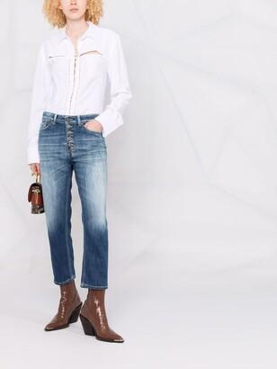 Dondup Low-Rise Stonewashed Boyfriend Jeans