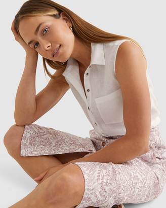 Sportscraft Daisy Linen Sleeveless Shirt