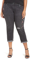 Lucky Brand Reese Embroidered Boyfriend Jean (Plus Size)