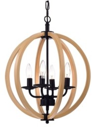 """Home Accessories Fedelmid 16"""" 4-Light Indoor Pendant Lamp with Light Kit"""