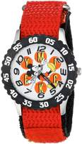 Disney Boy's 'Mickey Mouse' Quartz Stainless Steel and Nylon Casual Watch, Color: (Model: WDS000153)