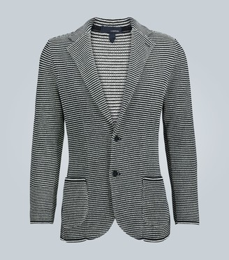 Lardini Striped knitted cotton blazer