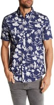 Trunks Tropical Hawaiian Floral Short Sleeve Shirt